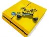 Skin Ps4 Fat Playstation 4 Original Brilho Amarelo
