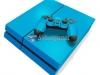 Skin Ps4 Fat Playstation 4 Original Brilho Azul Claro