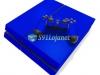 Skin Ps4 Fat Playstation 4 Original Brilho Azul Escuro