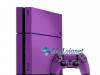 Skin Ps4 Fat Playstation 4 Original Brilho Roxo