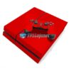 Skin Ps4 Fat Playstation 4 Original Brilho Vermelho