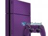 Skin Ps4 Fat Playstation 4 Original Carbono Roxo