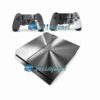 Skin Ps4 Fat Playstation 4 Original Metalico Prata