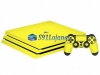 Skin Ps4 Pro Playstation 4 Origina Brlho Gloss Amarelo