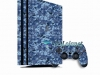 Skin Ps4 Pro Playstation 4 Original Camuflado Azul