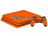 Skin Ps4 Pro Playstation 4 Original Carbono Laranja