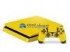 Skin Ps4 Slim Playstation 4 Slim Original Brilho Amarelo