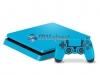 Skin Ps4 Slim Playstation 4 Slim Original Brilho Azul Claro