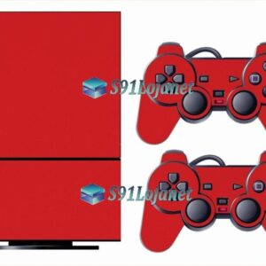 Skin Ps2 Playstation 2 Original Adesivo Brilho Vermelho