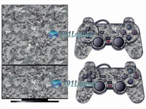 Skin Ps2 Playstation 2 Original Adesivo Camuflado Cinza Digi