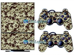 Skin Ps2 Playstation 2 Original Adesivo Camuflado Deserto