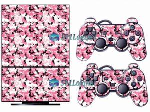 Skin Ps2 Playstation 2 Original Adesivo Camuflado Rosa