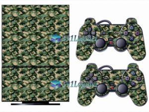Skin Ps2 Playstation 2 Original Adesivo Camuflado Verde
