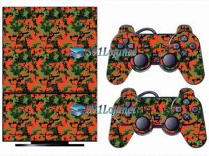 Skin Ps2 Playstation 2 Original Adesivo Camuflado Vermelho