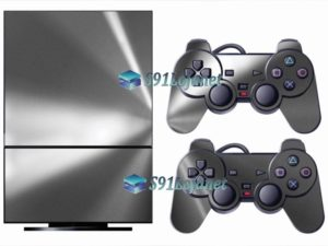 Skin Ps2 Playstation 2 Original Adesivo Metalico Prata