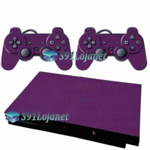 Skin Ps2 Slim Playstation 2 Adesivo Brilho Rosa
