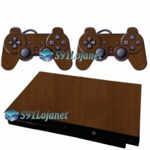 Skin Ps2 Slim Playstation 2 Adesivo Metalico Onix