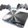 Skin Ps3 Slim Playstation 3 Slim Adesivo Metal Prata