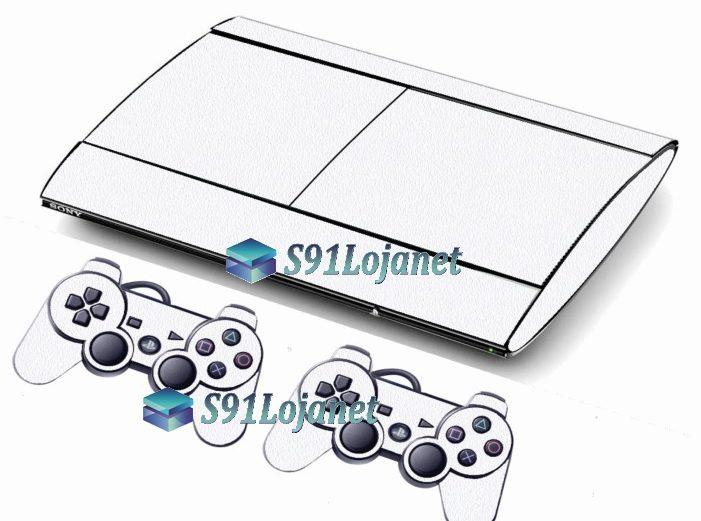 Skin Ps3 Super Slim Playstation 3 Brilho Branco