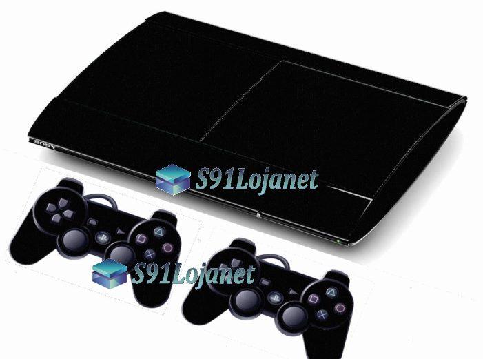Skin Ps3 Super Slim Playstation 3 Brilho Preto
