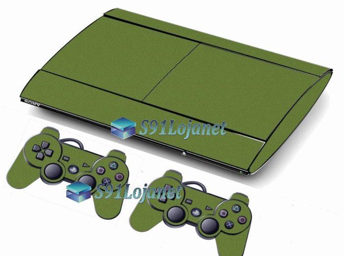 Skin Ps3 Super Slim Playstation 3 Brilho Verde