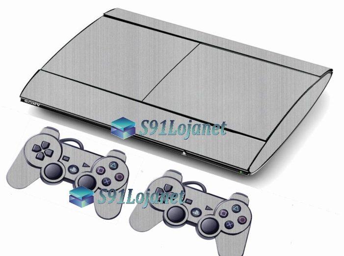 Skin Ps3 Super Slim Playstation 3  Metal Aluminio