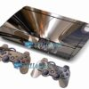 Skin Ps3 Super Slim Playstation 3  Metal Cromo