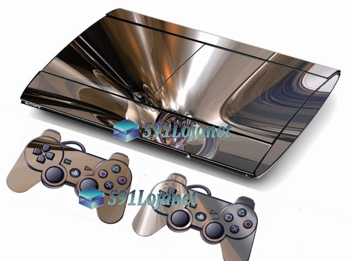 Skin Ps3 Super Slim Playstation 3  Metal Cromo