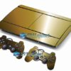 Skin Ps3 Super Slim Playstation 3  Metal Dourado