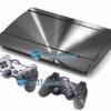 Skin Ps3 Super Slim Playstation 3  Metal Prata