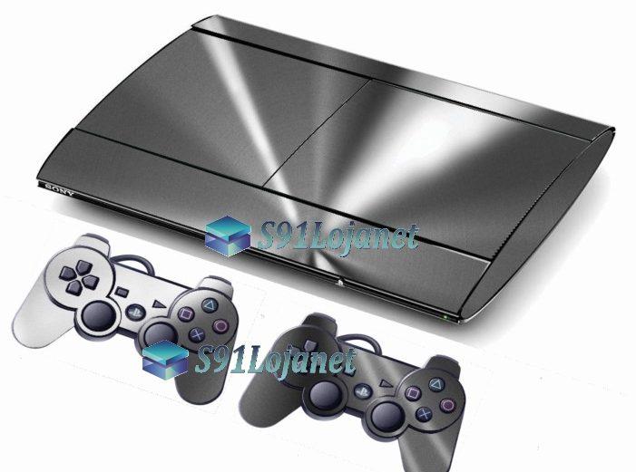 Skin Ps3 Super Slim Playstation 3  Metal Prata
