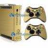 Xbox 360 Fat Skin Adesivo Metálico Dourado