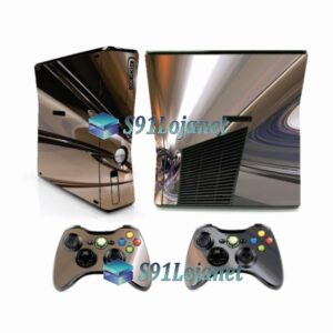 Xbox 360 Slim Skin Adesivo Capa Metálico Cromado