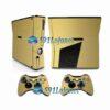 Xbox 360 Slim Skin Adesivo Capa Metálico Dourado