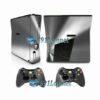 Xbox 360 Slim Skin Adesivo Capa Metálico Prata