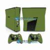 Xbox 360 Slim Skin Adesivo Capa Brilho Verde