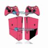 Xbox 360 Super Slim Skin Adesivo Brilho Rosa