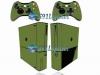 Xbox 360 Super Slim Skin Adesivo Brilho Verde