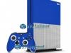 Xbox One S Slim Skin Adesivo Vinil Brilho Azul