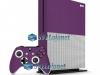 Xbox One S Slim Skin Adesivo Vinil Brilho Roxo