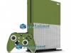 Xbox One S Slim Skin Adesivo Vinil Brilho Verde