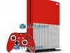Xbox One S Slim Skin Adesivo Vinil Brilho Vermelho