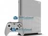 Xbox One S Slim Skin Adesivo Vinil Carbono Cinza Escuro
