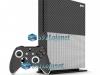 Xbox One S Slim Skin Adesivo Vinil Carbono Cinza