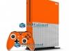 Xbox One S Slim Skin Adesivo Vinil Carbono Laranja