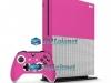 Xbox One S Slim Skin Adesivo Vinil Carbono Rosa