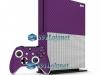 Xbox One S Slim Skin Adesivo Vinil Carbono Roxo