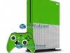 Xbox One S Slim Skin Adesivo Vinil Carbono Verde