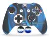 Capa Case Skin Xbox One S Camo Premio Azul + Grip Camo
