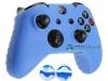 Capa Case Skin Xbox One X Microsoft Azul + Grip Camo